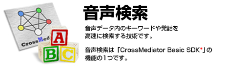 CrossMediator 音声検索